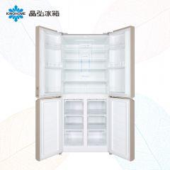 蝶式美学设计,宽冷藏+大冷冻容量,蓝光离子净味,空气均冷,多倍大冻力,550mm